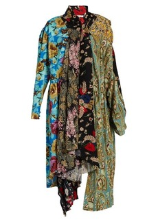 Balenciaga Projection patchwork midi dress