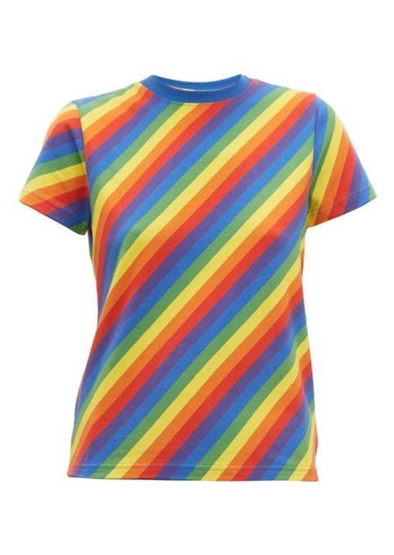 Balenciaga Rainbow stripe-print cotton T-shirt