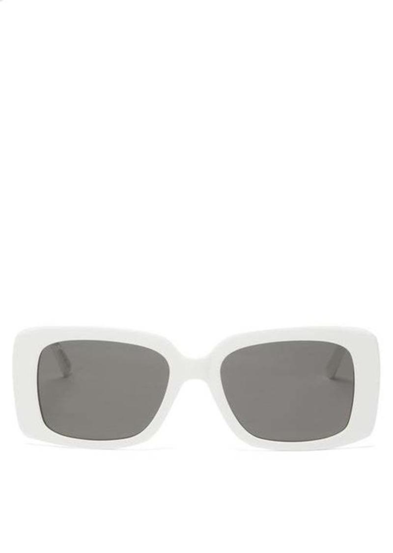 Balenciaga Rectangular acetate sunglasses