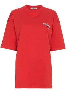 Balenciaga Red Logo T-Shirt