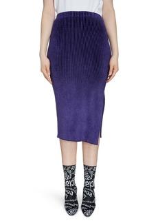 Balenciaga Rib Chenille Midi Pencil Skirt