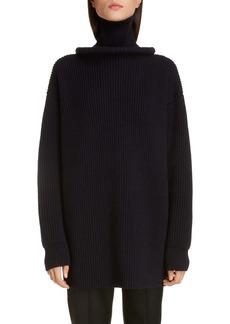 Balenciaga Ring Collar Rib Wool Sweater