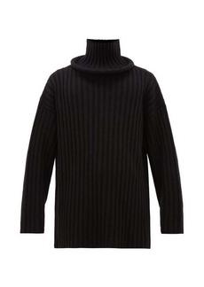 Balenciaga Ring-neck ribbed wool sweater