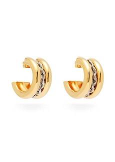 Balenciaga Rope chain hoop earrings