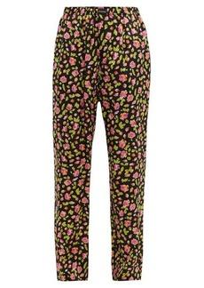 Balenciaga Rose Vareuse-print silk trousers