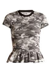 Balenciaga balenciaga round neck camouflage print wool t shirt abvaa7994e8 a