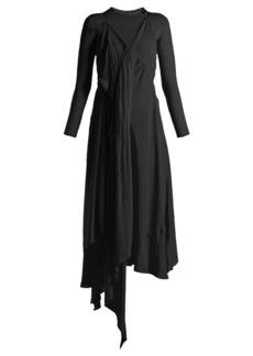 Balenciaga Draped silk-crepe slip dress