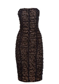 Balenciaga Ruched-lace strapless dress
