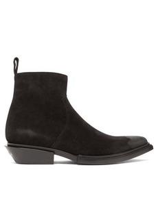 Balenciaga Santiag point-toe suede boots