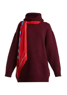 Balenciaga Scarf hooded wool sweater