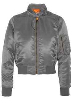 Balenciaga Scarf satin bomber jacket