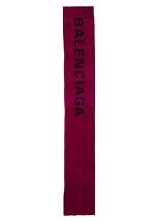 Balenciaga Seas Jacquard Wool Scarf