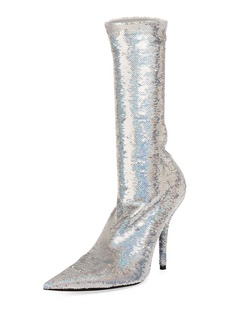 Balenciaga Sequin Sock Calf-High Bootie