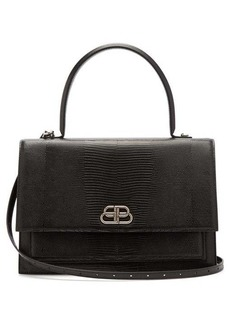 Balenciaga Sharp L lizard-effect leather bag