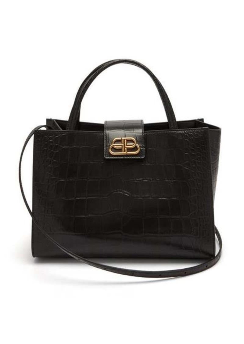 Balenciaga Sharp M crocodile-effect leather tote bag