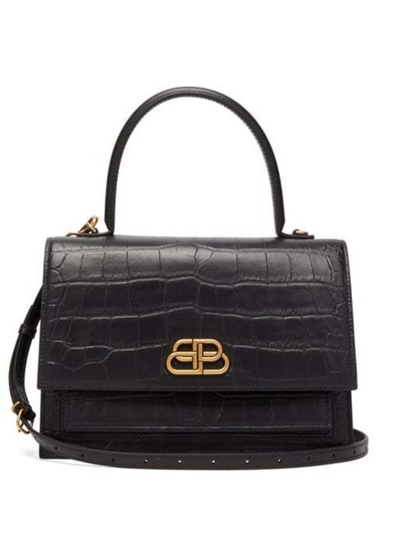 Balenciaga Sharp M lizard-effect leather bag