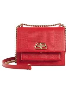 Balenciaga Sharp Reptile Embossed Lambskin Leather Shoulder Bag