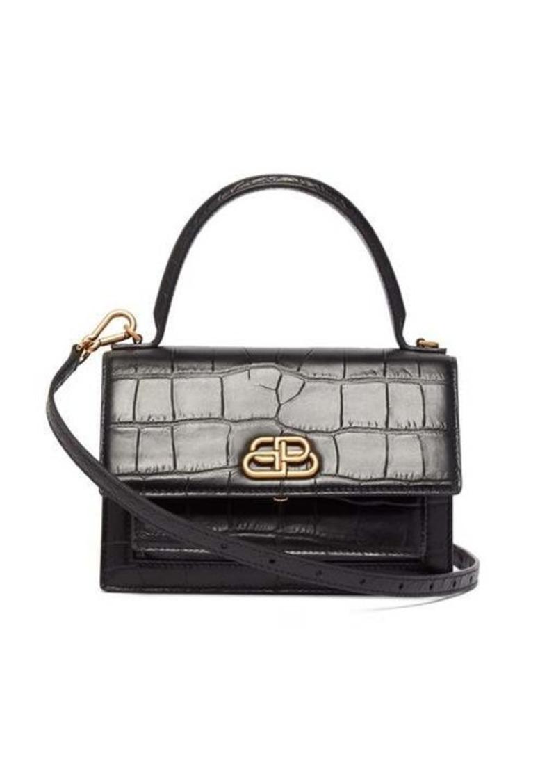 Balenciaga Sharp XS crocodile-effect leather cross-body bag