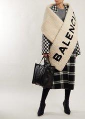 Balenciaga Shearling logo scarf
