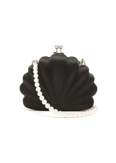 Balenciaga Shells satin clutch bag