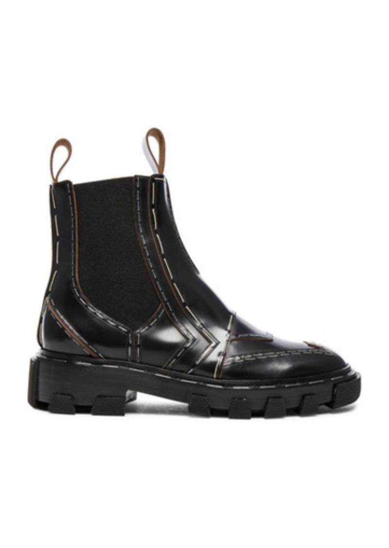 Balenciaga Shiny Leather Chelsea Boots