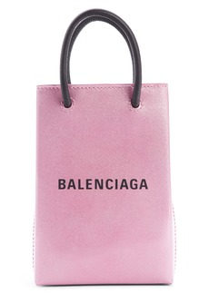 Balenciaga Shopping Leather Phone Crossbody Bag