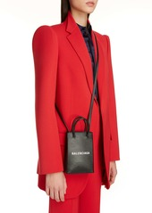 Balenciaga Shopping Leather Crossbody Phone Bag