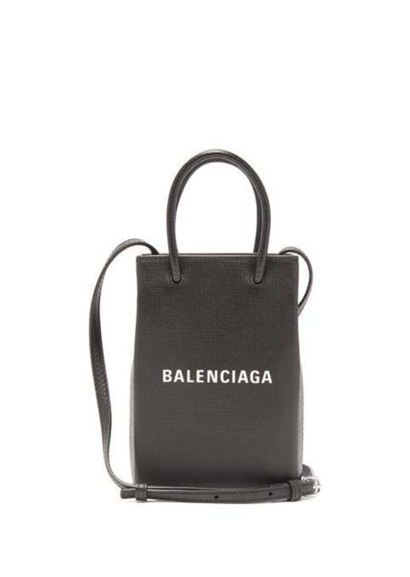 Balenciaga Shopping mini leather cross-body bag