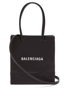 Balenciaga Shopping small textured-leather cross-body bag