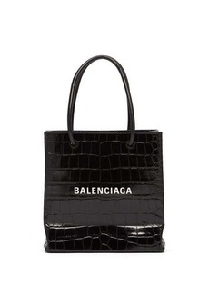 Balenciaga Shopping XXS croc-effect leather cross-body bag