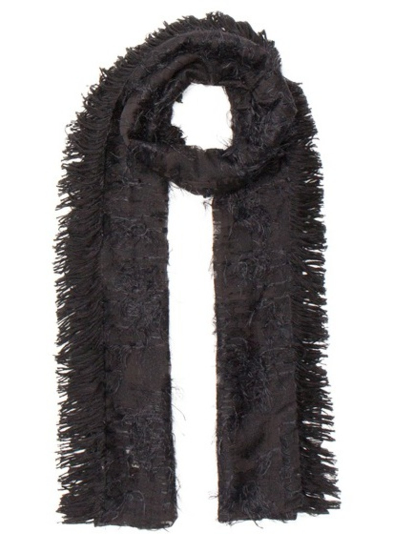Balenciaga Silk Fringe Scarf