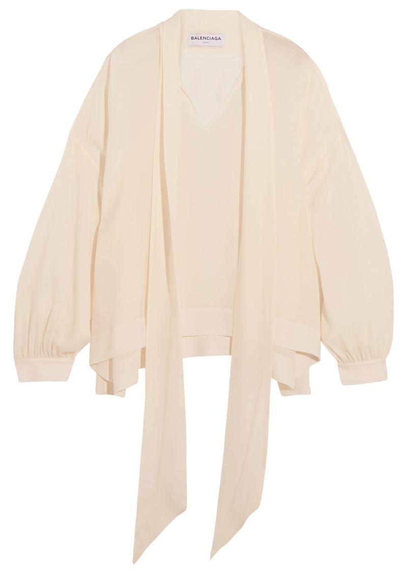 b4141f8fa2404 Balenciaga Balenciaga Silk pussy-bow blouse