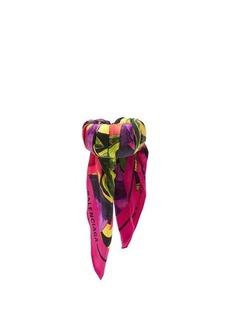 Balenciaga Silk-twill floral-print scarf cuff