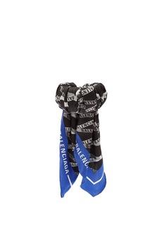 Balenciaga Silk-twill wrapped cuff
