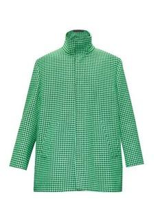 Balenciaga Single-breasted boxy houndstooth coat