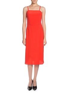 Balenciaga Sleeveless Crepe Slip Dress