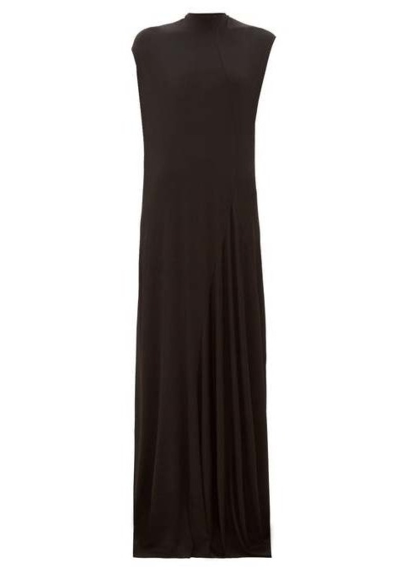 Balenciaga Sleeveless draped jersey gown