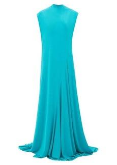 Balenciaga Sleeveless draped jersey gown