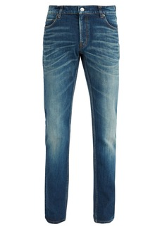Balenciaga Slim-fit faded-wash jeans