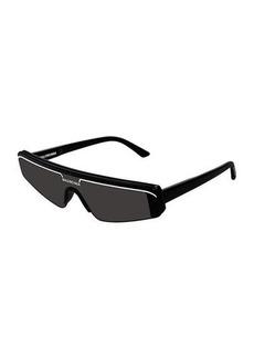 Balenciaga Slim Rectangle Shield Sunglasses
