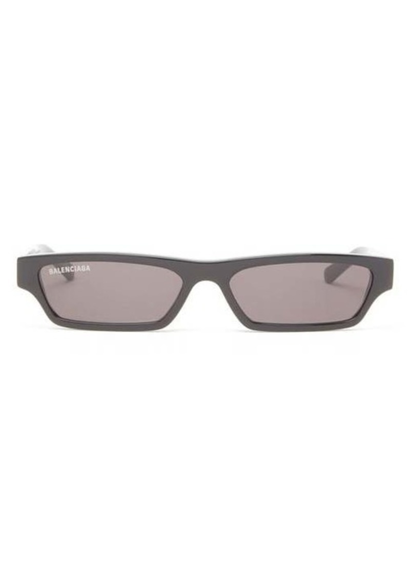 Balenciaga Slim rectangular acetate sunglasses