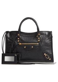 Balenciaga Small Arena City Lambskin Leather Tote