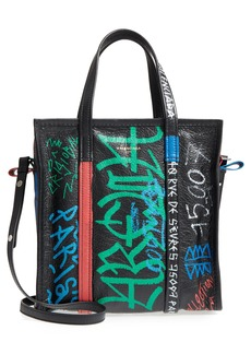 Balenciaga Small Bazar Grafitti Leather Shopper