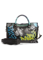 Balenciaga Small City Graffiti Leather Tote