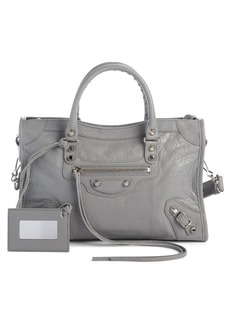Balenciaga Small Classic Metallic Edge City Leather Tote