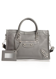 Balenciaga Small Classic Metallic Edge City Leather Tote