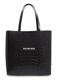 Balenciaga Small Everyday Croc Embossed Calfskin Tote