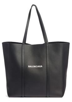 Balenciaga Small Everyday Logo Calfskin Tote