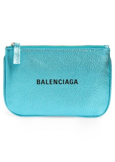 Balenciaga Small Everyday Metallic Leather Pouch