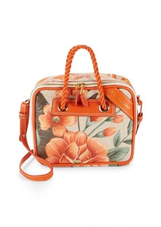 Balenciaga Small Floral Leather Crossbody Bag